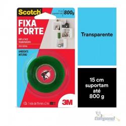 Fita adesiva dupla face Fixa Forte 19mmx2m Scotch 3M